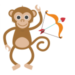 Cupids and Monkey Butts for Valentine's Day